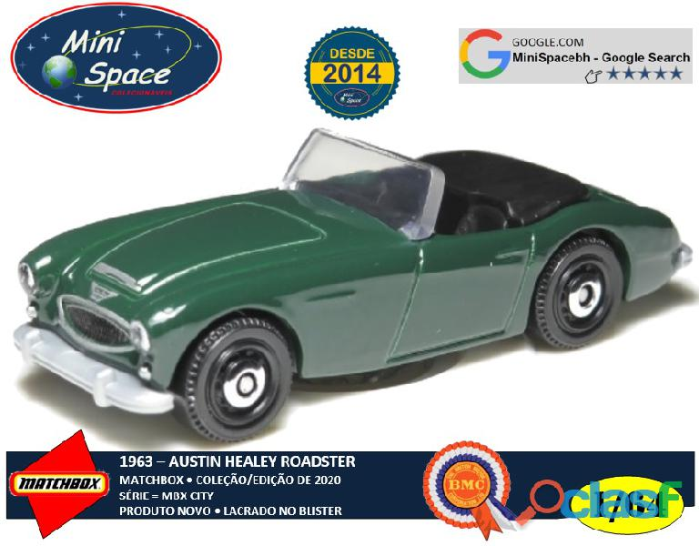 Matchbox 1963 Austin Healey Roadster cor Verde 1/64