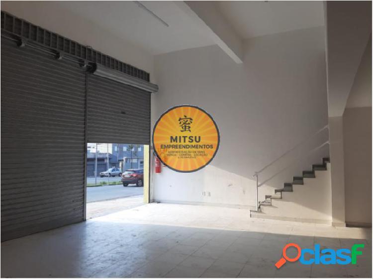 Salão comercial com 100 m2 em santo andré - vila camilópolis por 3.2 mil para alugar