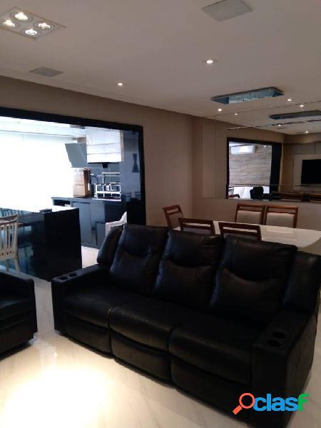 Apto todo mobiliado a venda 119 m² com 3 quartos 3 suítes 2 vagas em vila c