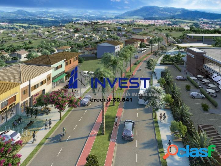 Vendo lote residencial com 250m² em bairro planejado. único na cidade.