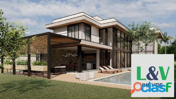 Casa em construção, à venda, 349m², condomínio campo de toscana, vinhedo-sp