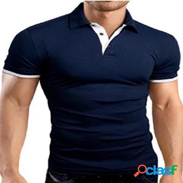 Masculino verão manga curta algodão youth casual popular polos