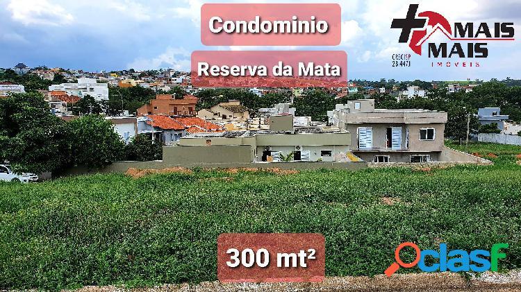 Terreno de 300 mt² condominio reserva da mata em monte mor