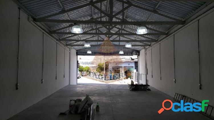 Locação galpão salão comercial 250m2. novoav. comercial energia trifasica