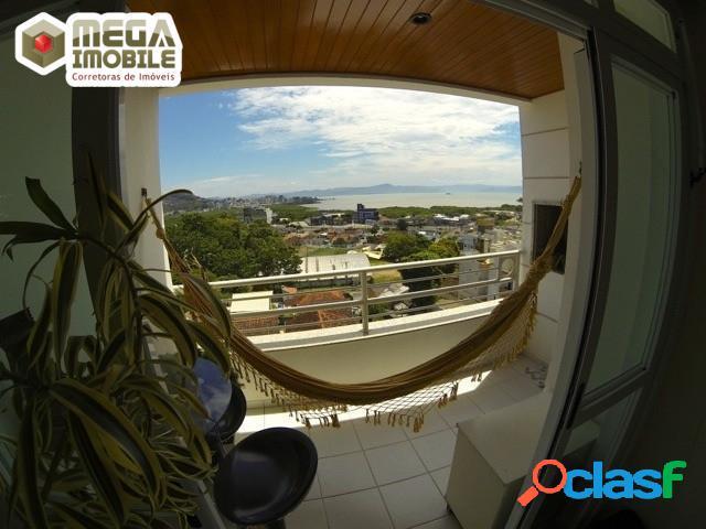 Apartamento com vista mar permanente! itacorubi 2 dorm suíte