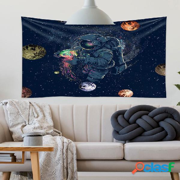 Astronauta tapestries fantasy spaceman pendurado na parede tapeçaria galaxy planet wall art para quarto decoração dormit