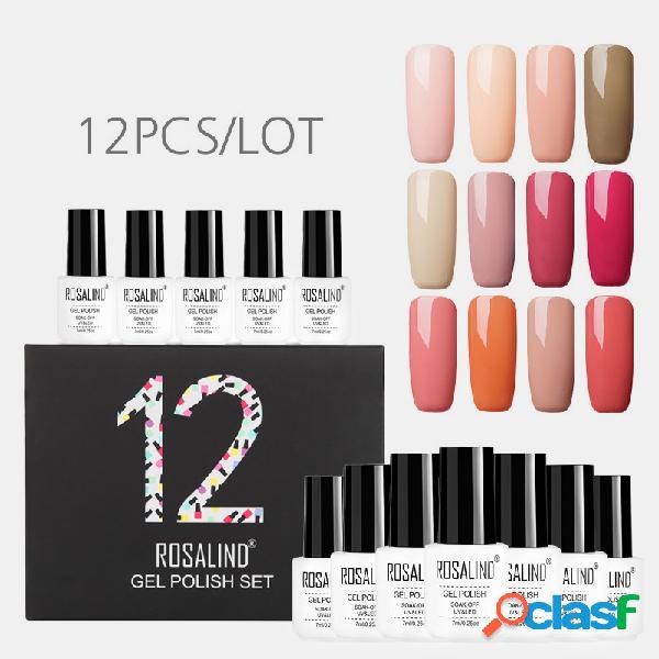 12 unidades / kit cor sólida unhas kit de gel polonês manicure semi-permanente mista unhas art gel