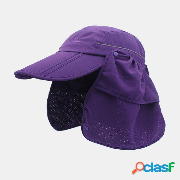 Proteção unissex de aba larga de verão para guarda-sol de uso duplo uv proteção respirável viseiras removíveis beisebol
