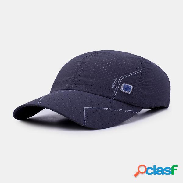Malha de proteção solar masculina de algodão verão ao ar livre respirável basebol chapéu