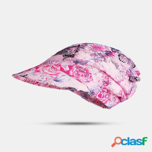 Imprimir verão uv protetor solar chapéu rosto de capa ao ar livre praia ciclismo respirável top vazio chapéus