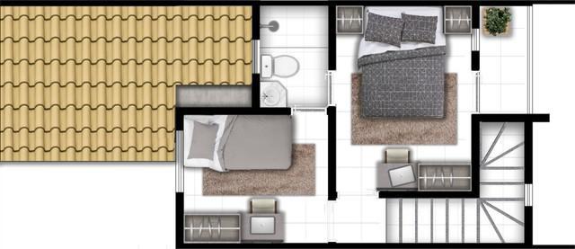 Casas duplex 2 e 3 quartos passaré