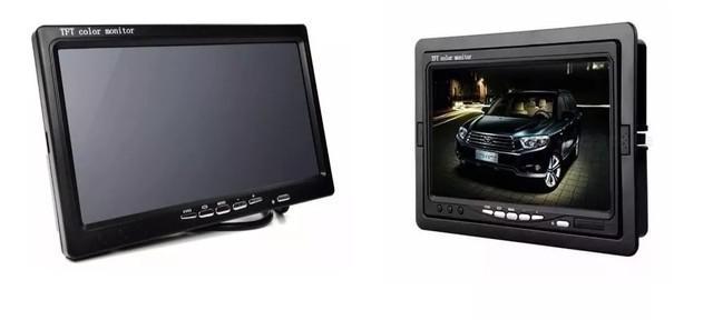 Tela lcd 7 polegadas e73 portátil monitor com controle