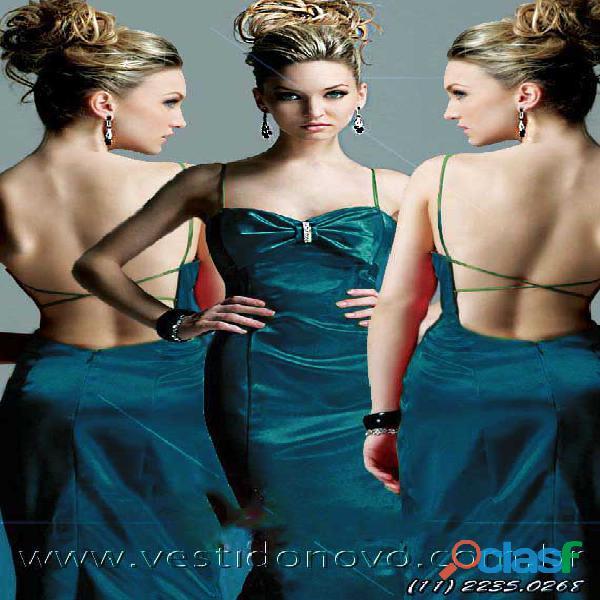 Vestido azul madrinha de casamento