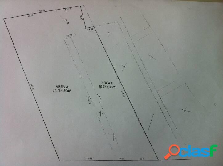 Terreno c/ 56.000 m² totalmente plano frente p/ á via dutra