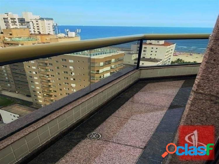 Cobertura duplex vista ao mar.