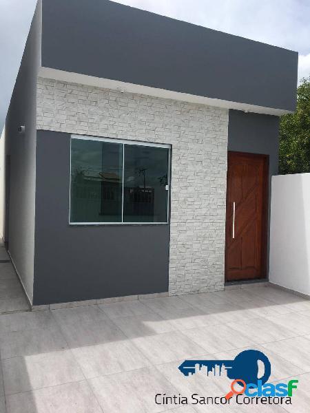Parque aurora: casa linear com 02 quartos, banheiro, vaga de garagem
