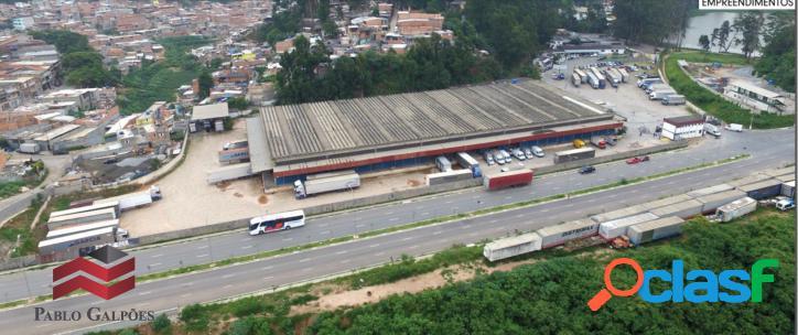 Galpão locação e venda 10.000 m² industrial anhanguera, osas