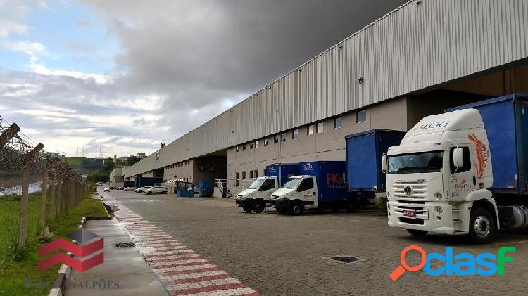 Galpão 1.728 m² em condomínio fechado locação alphaville-sp.