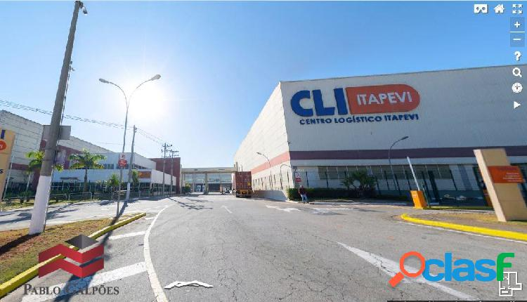 Galpão 1.789 m² em condomínio fechado locação itapevi-sp.