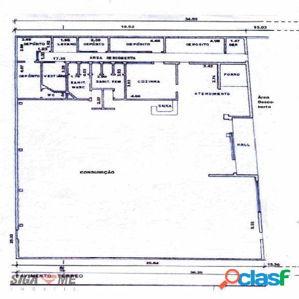 Salão para alugar, 550 m² por r$ 40.000/mês - santo amaro - são paulo/sp