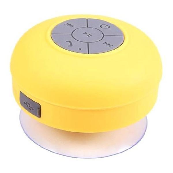 Caixa de som portátil bluetooth a prova d'água com ventosa