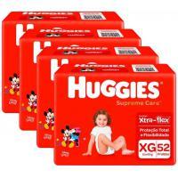 Parcelado] kit fraldas huggies supreme care hiper xg