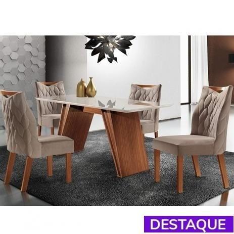 Sala jantar mesa atena 4 cadeiras delta - catálogo completo