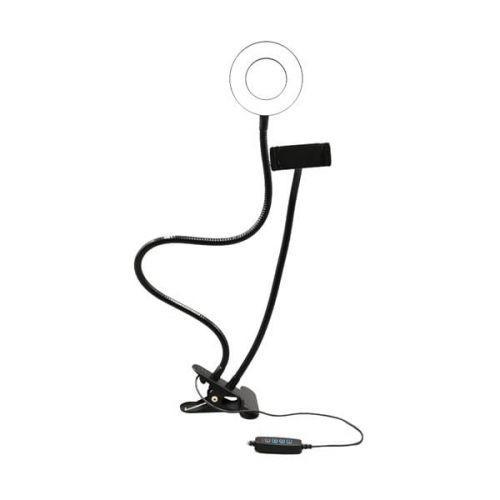 Suporte tipo ring light ajust/u00e1vel com clip fixador usb