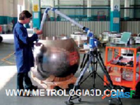 Medição tridimensional laser tracker laser scanner digitalização 3d