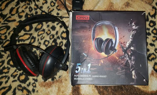Fone headset gamer wearing stereo 5 in 1 | ps3 / xbox 360 /