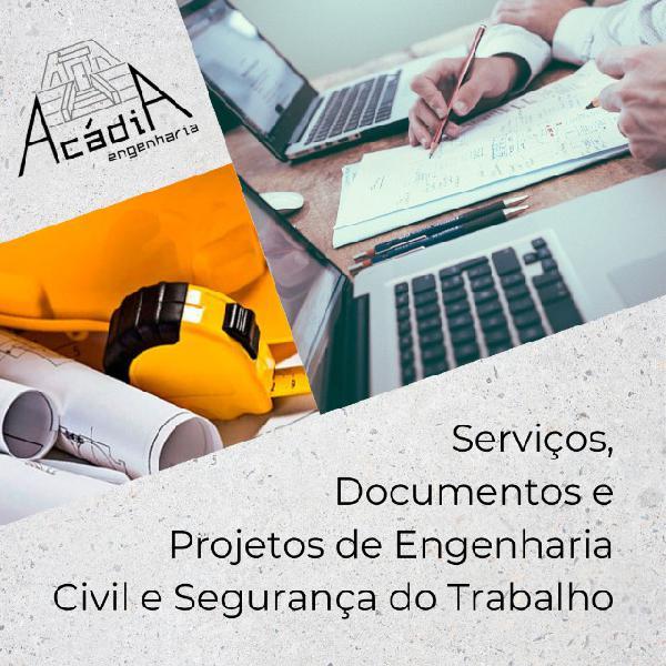 Serviços, documentos e projetos de engenharia civil e