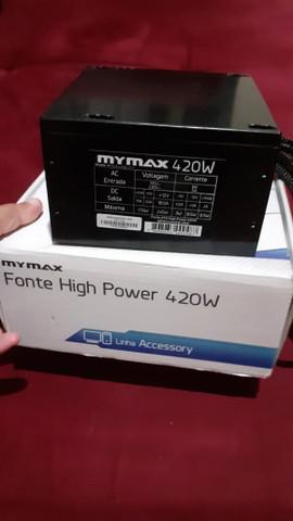 V/t fonte real pc gamer mymax 420w