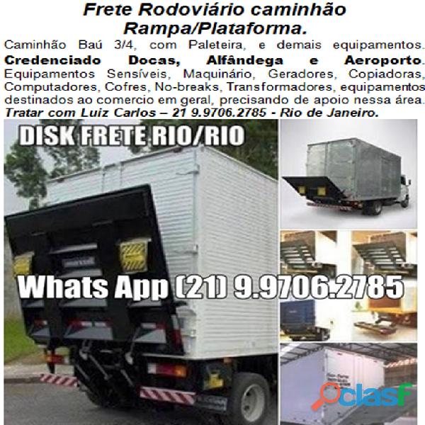 Frete Rodoviário caminhão Rampa/Plataforma Rio / Rio