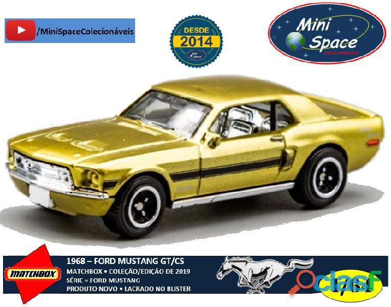 Matchbox 1968 Ford Mustang GT/SC Série Gold 1/64