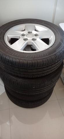 Kit 4 rodas e pneus bridgestone para kia soul cerato aro 15