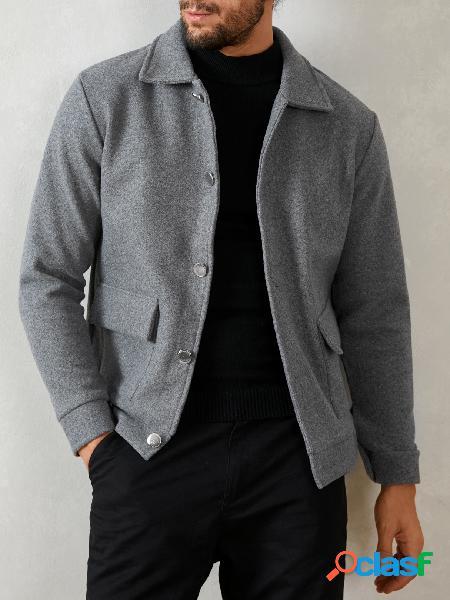 Incerun moda masculina manga comprida casual jaquetas de botão