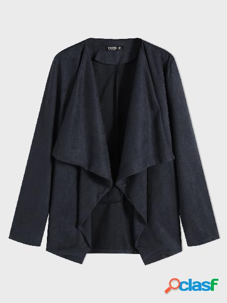 Basics yoins plus casaco de lapela de lapela tamanho marinho