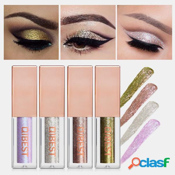 15 cores brilho sombra líquida portátil à prova d'água pigmentada com pigmentação cosmética profissional para olhos