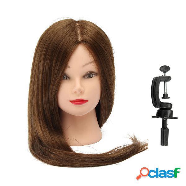 """30 """"hair training model cabeça cabeleireira prática com grampo"""