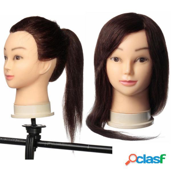 24 inch long hair salon modelos práticos cabeleireiro treinando cabeça com braçadeira