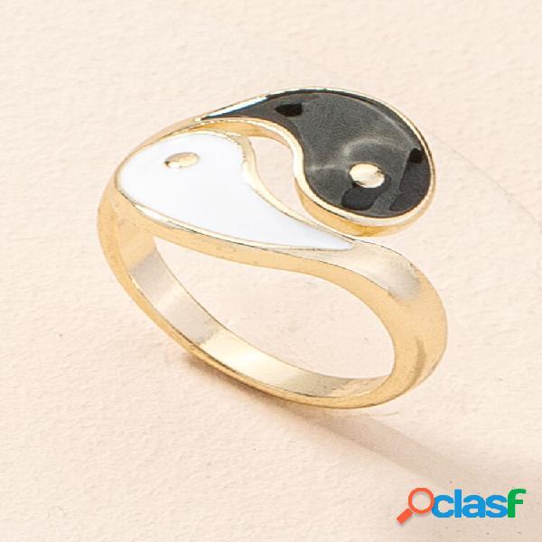 Anéis de sinete ajustáveis de estilo chinês vintage em liga
