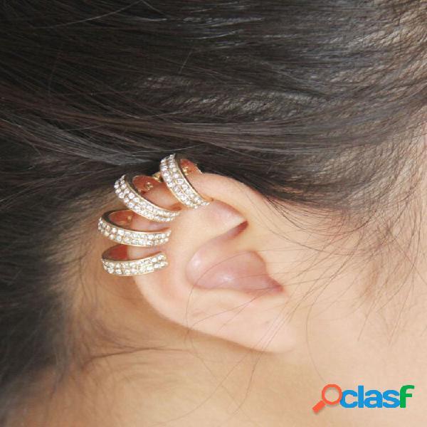 Moda não piercing orelha clip womens brincos cartilagem de diamante brilhante brincos joias para mulheres