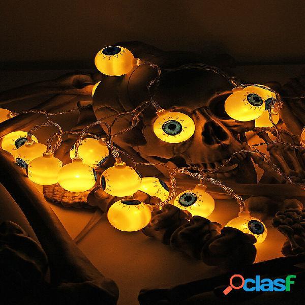 Specter skeleton ghost eyes padrão halloween led luz de corda decoração de festa divertida de feriado
