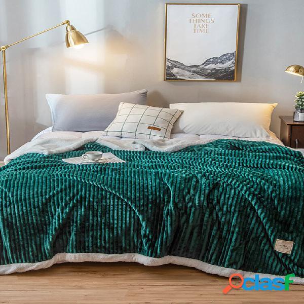 200x230cm dupla face engrossar velocino veludo cobertor de inverno cor sólida edredão de cor sólida casa soft cama