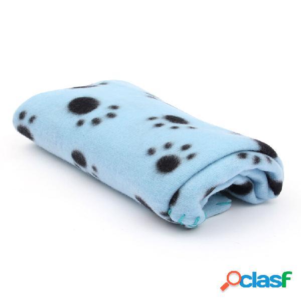 Cobertor pet pata print touch soft tapete quente velo cães e cobertores filhotes