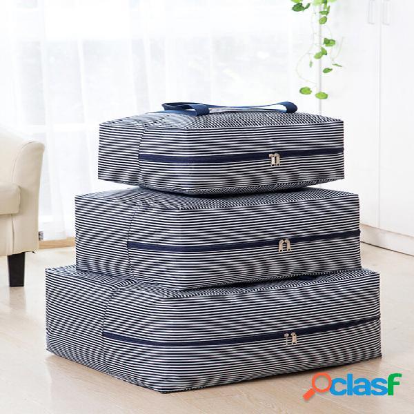 Engrossar edredão grande bolsa oxford pano armazenamento bolsa armazenamento bagagem bolsa roupa viagem movimentação cla