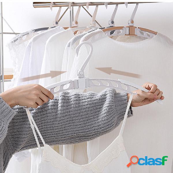 Pano retrátil dobrável mágico cabide rack de secagem portátil antiderrapante para armazenamento de roupas