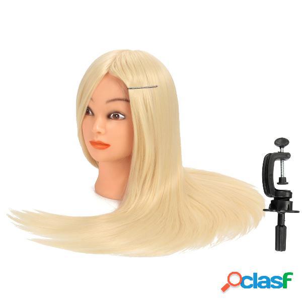 30% de cabelo loiro real de cabelo humano cabeça de cabeleireiro cabeleireira com abraçadeira