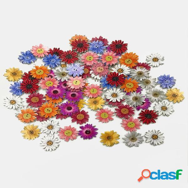 50 unidades de crisântemo de madeira botões lindas flores diy acessórios feitos à mão