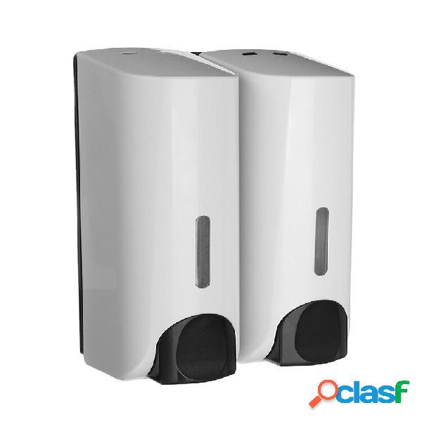 350ml banheiro liquid sabão dispensador de gel de banho montado na parede dispensador sabão